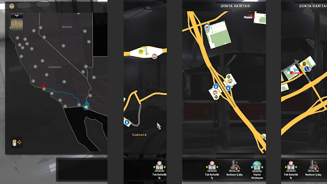 ats google maps navigation night version v1.6 screenshots 2