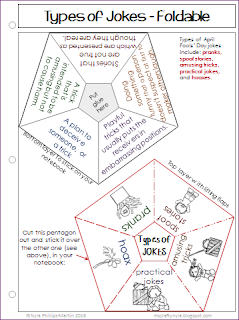 April Fools' Day printables - foldable