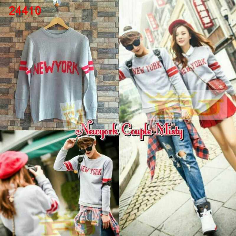 Jual Sweater Couple Sweater New York Misty - 24410