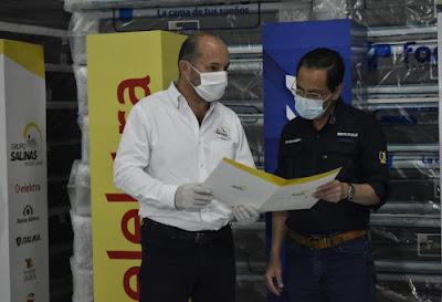 Grupo Salinas dona productos de sus marcas