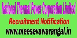 NTPC (National Thermal Power Limited) Recruitment Notification 2016