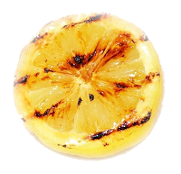grilled lemon garnish