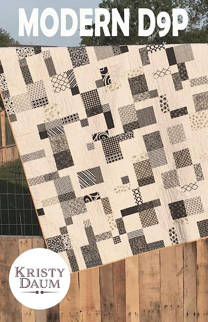 MODERN D9P Quilt Pattern #modernd9p #modernizedd9p #quiltpattern #kristydaum