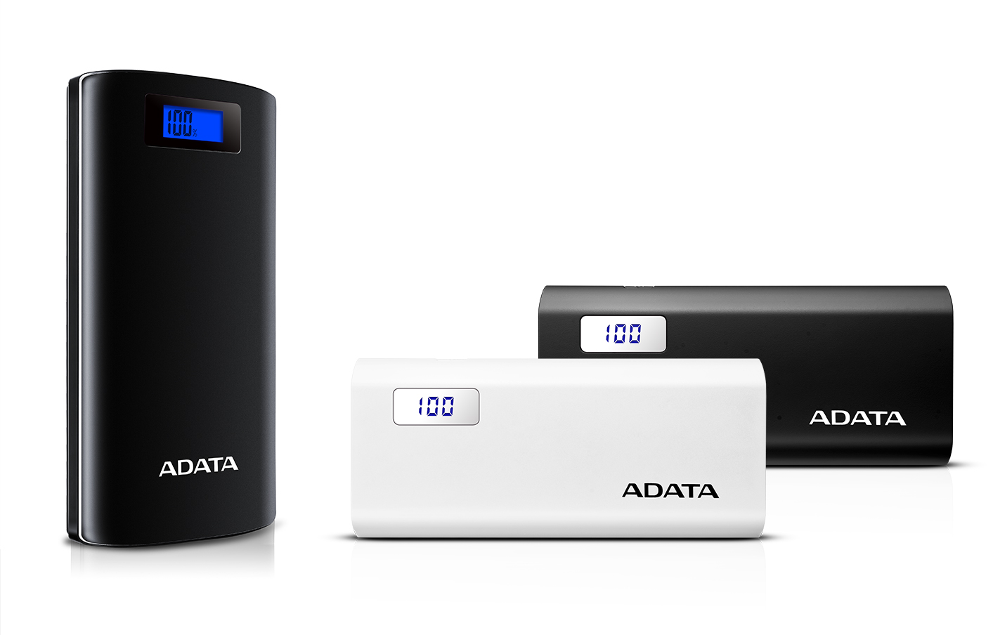 ADATA P20000D and P12500D Digital Display Power Banks