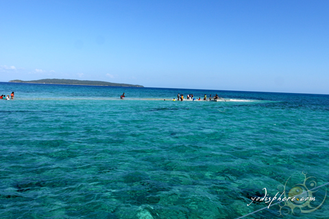 Palad sandbar near Maniwaya Island in Marinduque Philippines