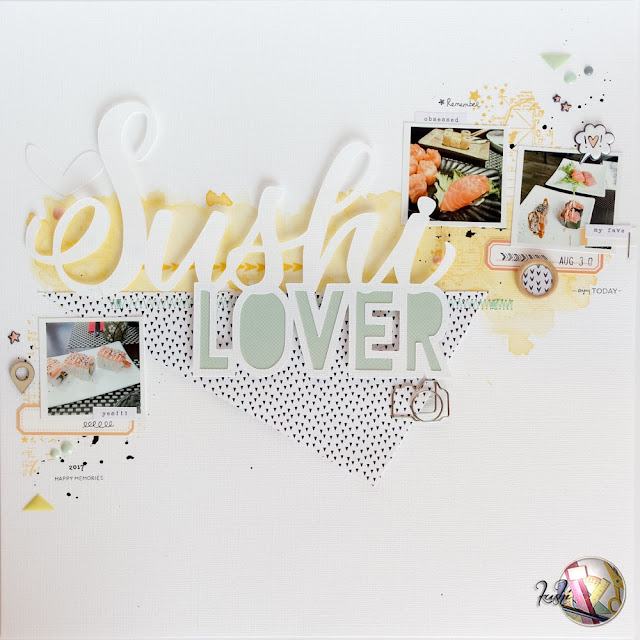 scrapbook layout | sushi lover by kushi per Scrappiamo Insieme