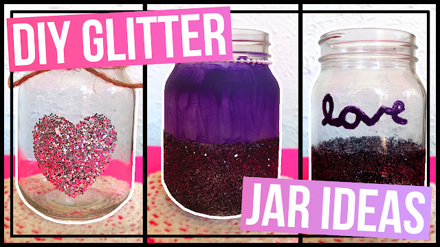 3 DIY Glitter Jar Ideas