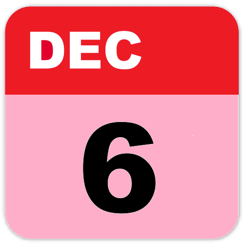 History of December 6-Important Events,Festivals,Born and Deaths of famous People