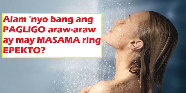 Most people around the world, especially Filipinos, want to feel fresh and smell good all the time. Thus, vanity and hygiene, are what often drives us to the shower every morning and sometimes, before retiring at night. But did you know that a daily shower has its own side effects and is actually harmful to the body? To be more specific, too much bathing or excessive shower damages our skin in the long run. British dermatologists, Dr. Joshua Zeichner and Dr. Ranella Hirsch said that the notion of feeling the need to shower is born more out of 'cultural norms' and less of any health benefits. So how does excessive shower affect your body? The use of chemical cleaning products harms the body. These include bath soap, shower gel and cream we used to wash off the dirt and germ from our body. The chemicals in these products affects the PH level in our skin and disturb its natural balance. Frequent washing actually removes the good, useful bacteria which keep your skin healthy. These are the same bacteria that protects your skin from the harmful ones. Without them, the skin will be more susceptible to infection by causing small cracks on the surface. It causes your skin and hair to become dry. Excessive shower reduces the natural oil of the skin and the hair. For the skin, this leads to the breaking of blood vessels and eventually, drying. It also makes the hair dull, dry, or frizzy. Excessive scrubbing hurt the skin and affects the sebum which protects it from foreign particles. This could lead to wrinkles if done frequently. Lastly, you may just be wasting water which other people in some parts of the world don't have much.  Having said that, how often should one take a bath without feeling conscious about how we smell to others? John Oxford, Professor of Virology at Queen Mary's School of Medicine and Dentistry said at least every other day would be enough as long as people wash their hands frequently and took special care of the body parts below the belt. If you don't actually go to the gym every day or work in a chemical factory, this frequency of shower will do just fine. You are probably not dirty like you think you are.