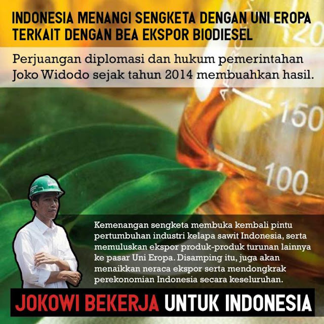 Indonesia Era Jokowi Menang Sengketa atas Uni Eropa Terkait Biodisel