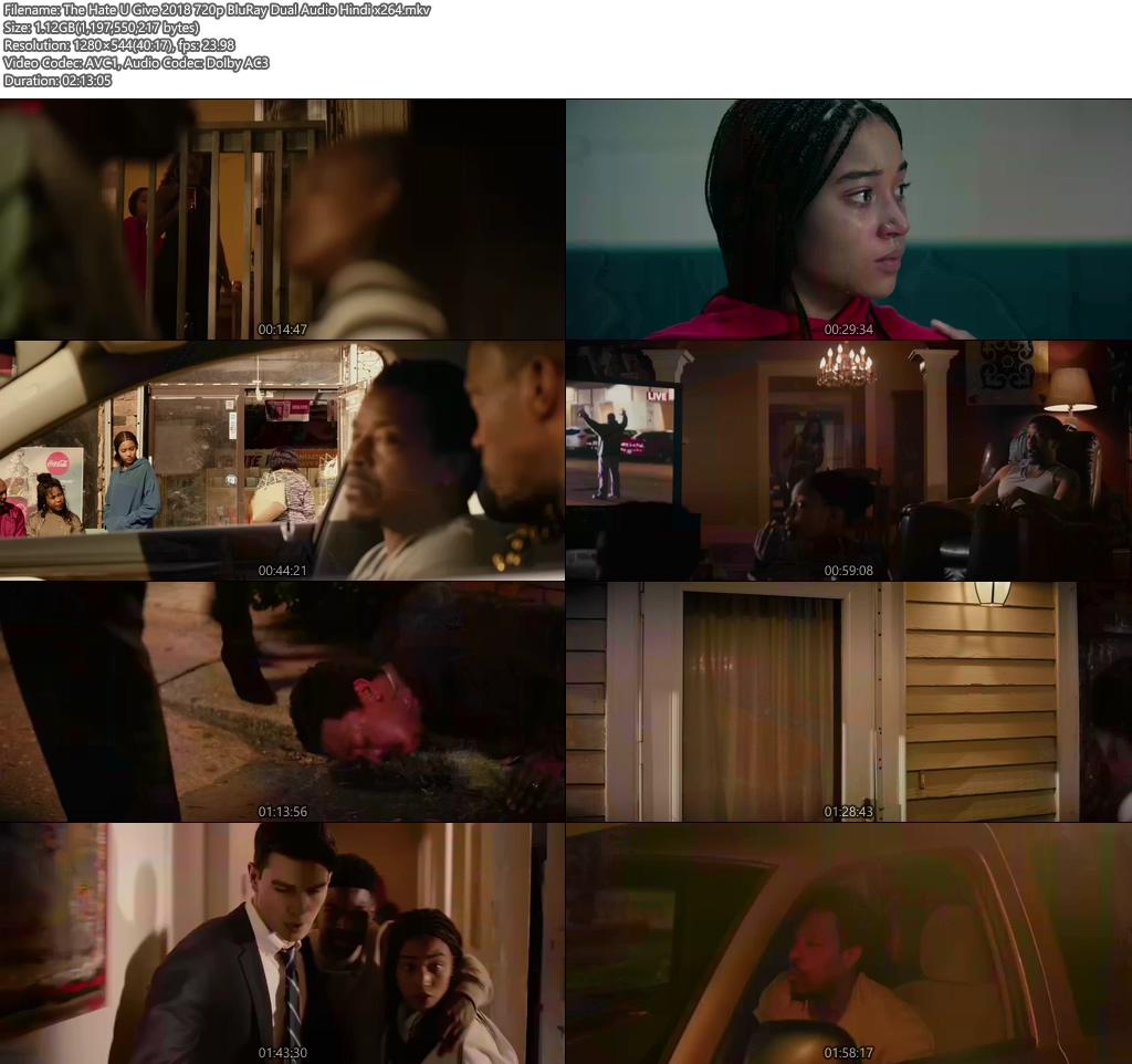 The Hate U Give 2018 720p BluRay Dual Audio Hindi x264 | 480p 300MB | 100MB HEVC Screenshot