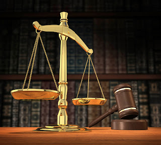 Scales of justice and judge's gavel