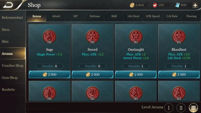 Arcana merah level 3