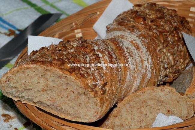 Barra de pan con semillas de girasol