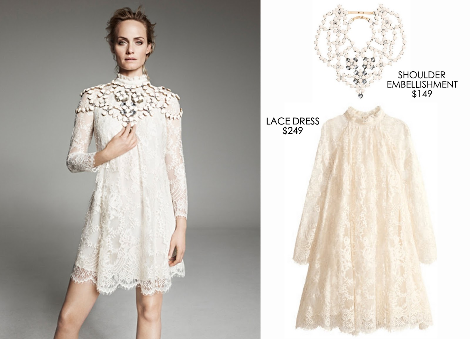 The first person to be seen in the charming lace frock was Jessica Alba at  Paris Fashion Week in February 2014. The starlet gave her look an edge with  black ... 177e0c22b