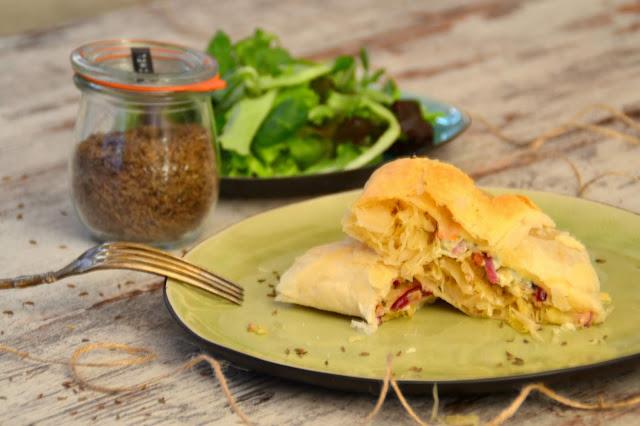Blätterteig mit Sauerkraut