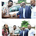 BBNaija: Efe Receives His SUV Escorted by other Ex Housemates [photos & video]