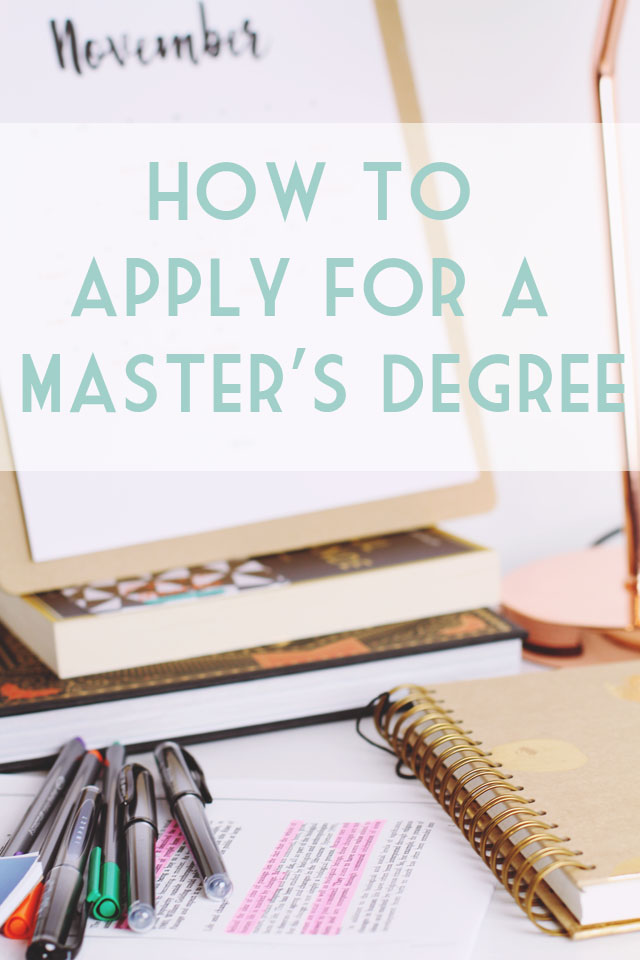 Applying for master's degree tips