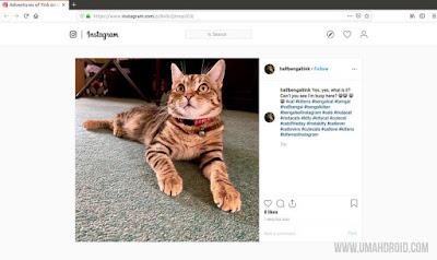 Buka Instagram di Firefox