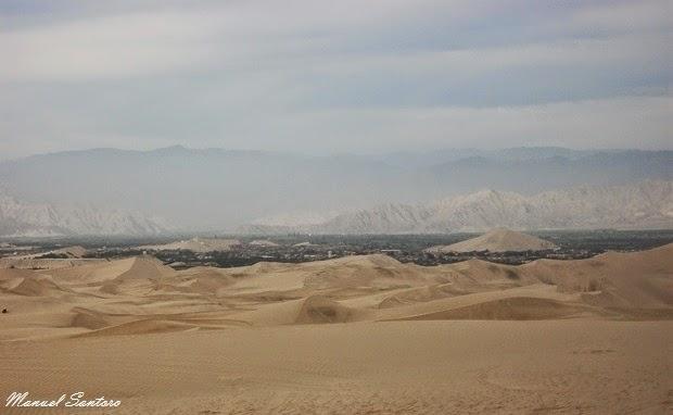 Tra le dune, panorama su Ica