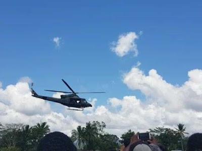 Informasi Pemboman Gunung Kabo dengan 4 Helikopter, Hoax