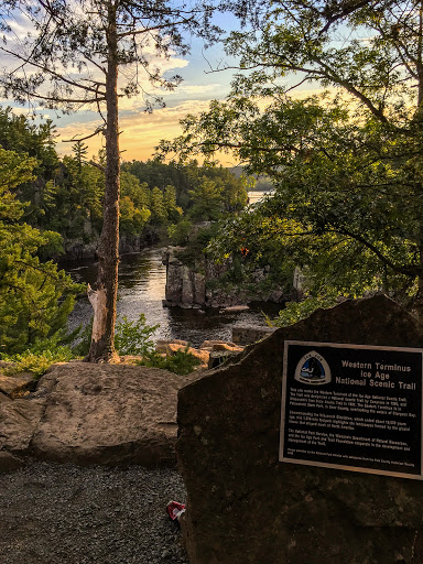 Western Terminus of Ice Age Trail - St Croix Falls Segment