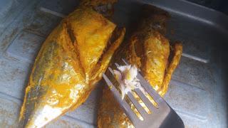 Ikan selar bakar, menu sihat, cara bakar ikan dalam oven, menu diet,