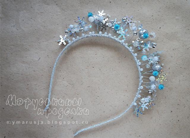 корона для костюма снежинки