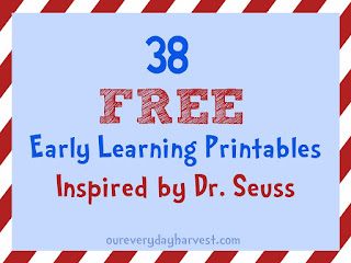 38 FREE Early Learning Printables Inspired by Dr. Seuss