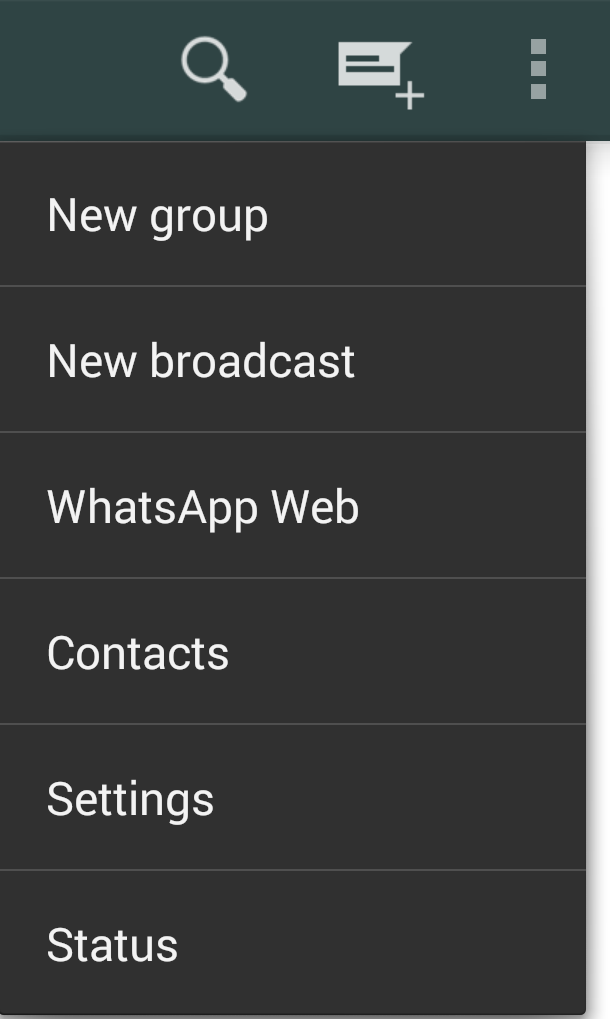 whatsapp web option
