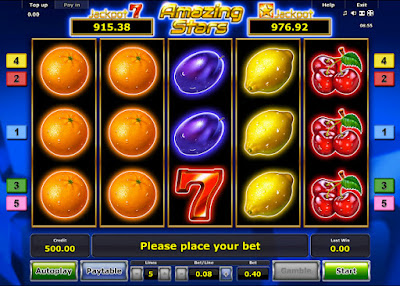 play amazing stars slot from Novomatic