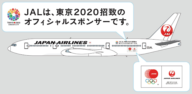 JAL Tokyo 2020 Jet special livery