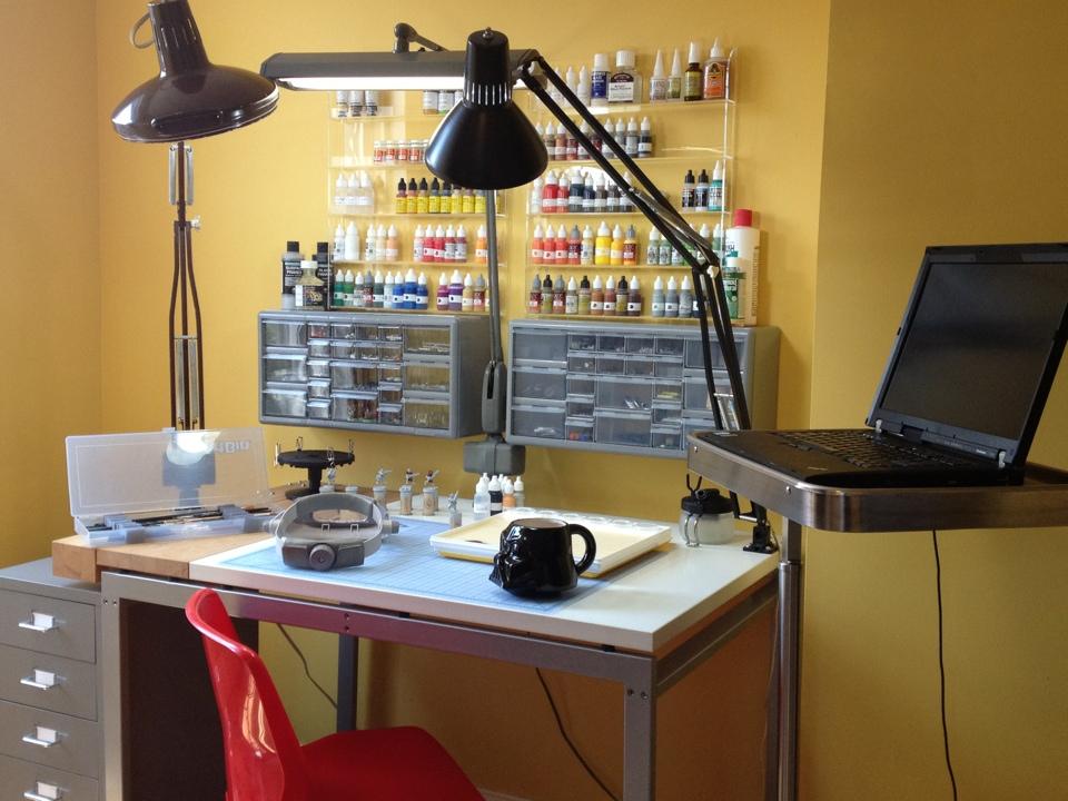 Hobby And Painting Setup