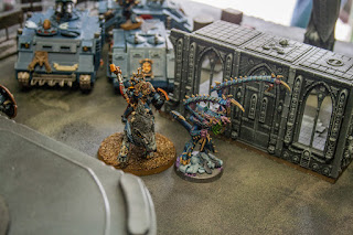 spacewolf lord on thunderwolf takes on a lictor