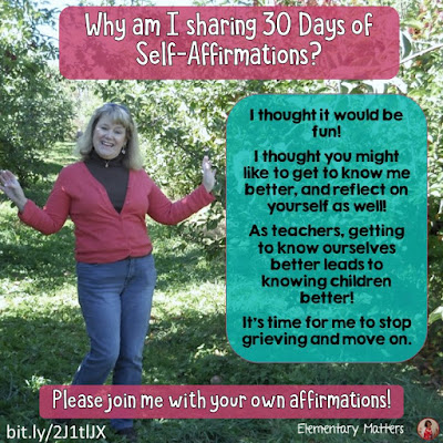 "Why am I Sharing 30 Days of Self-Affirmations?  For the next 30 days, I will be celebrating my own ""new year"" with self-affirmations. Won't you join me?"