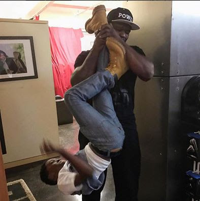 See what 50 cent is doing with this boy!