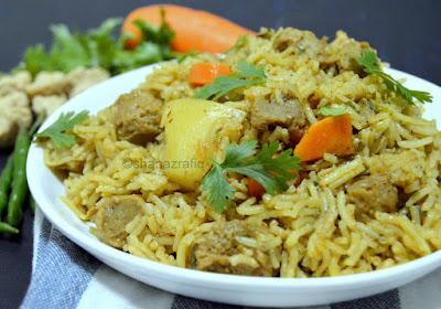 Arabic Style Soya Chunks & Vegetable Rice