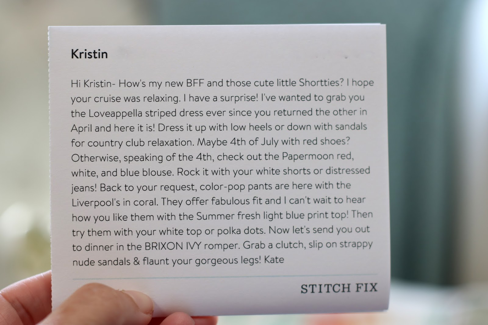 stitch fix notes