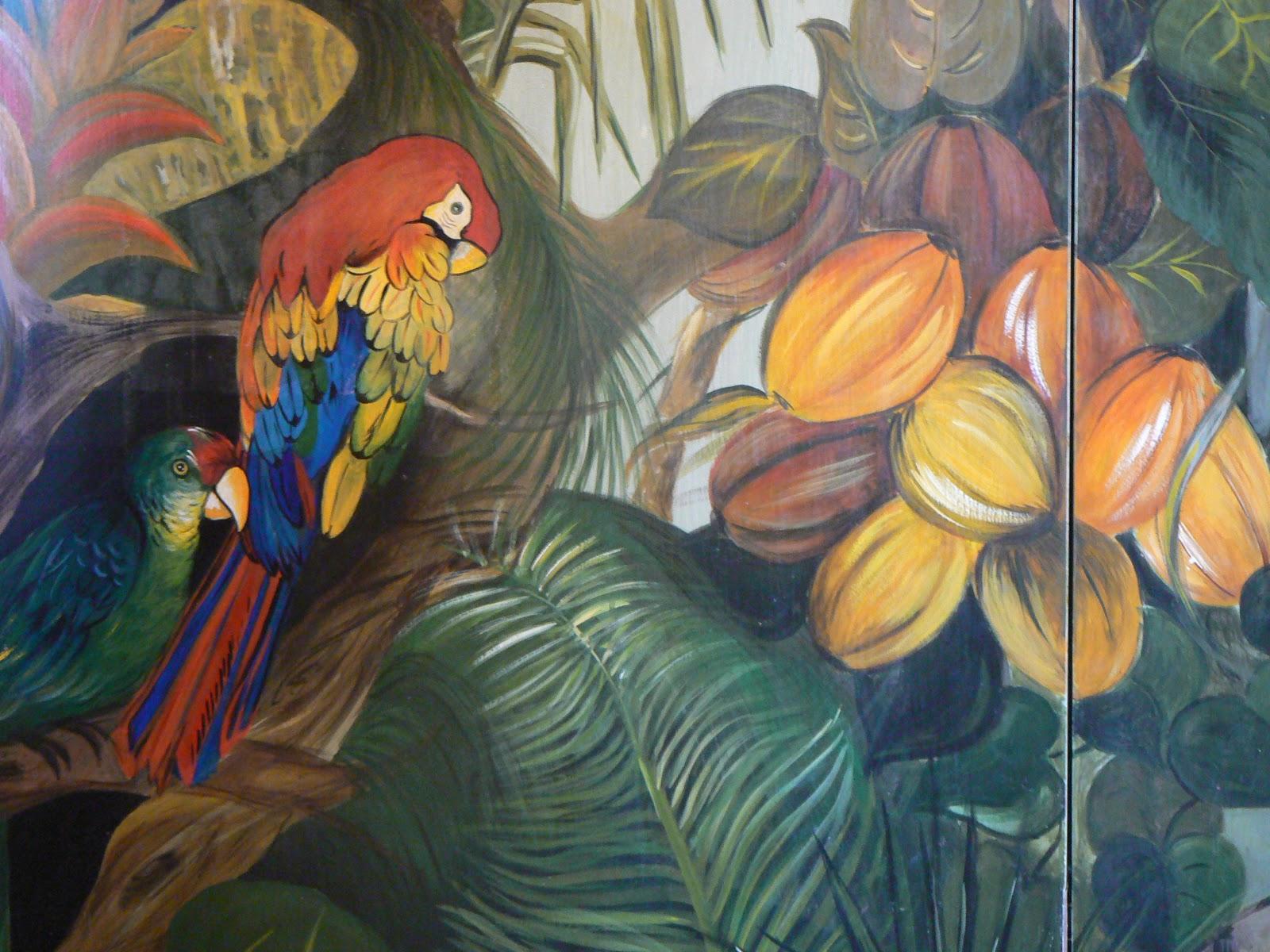 Mirinart armadio a muro dipinto come una giungla for Decorare un muro