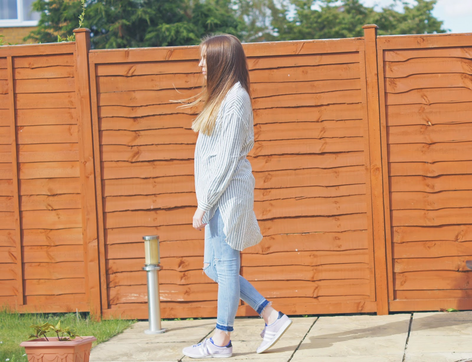zara shirt dress adidas lilac gazelle