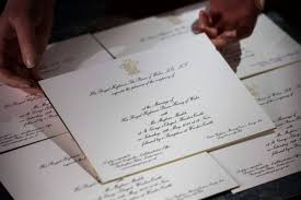 prince harry and meghan wedding invitation