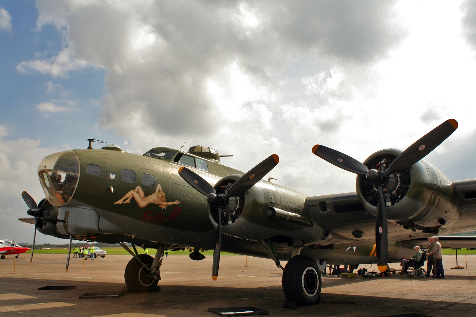 Duxford Airshow September 14th 2014 - B17 Flying Fortress 'Sally Bee""