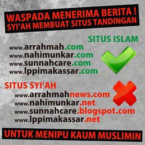 Waspada, Banyak Situs Syiah Pakai Nama-Nama Islam