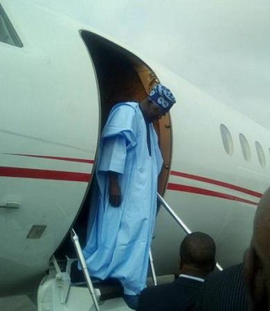 Tinubu Arrives Ondo For Akeredolu's Inauguration