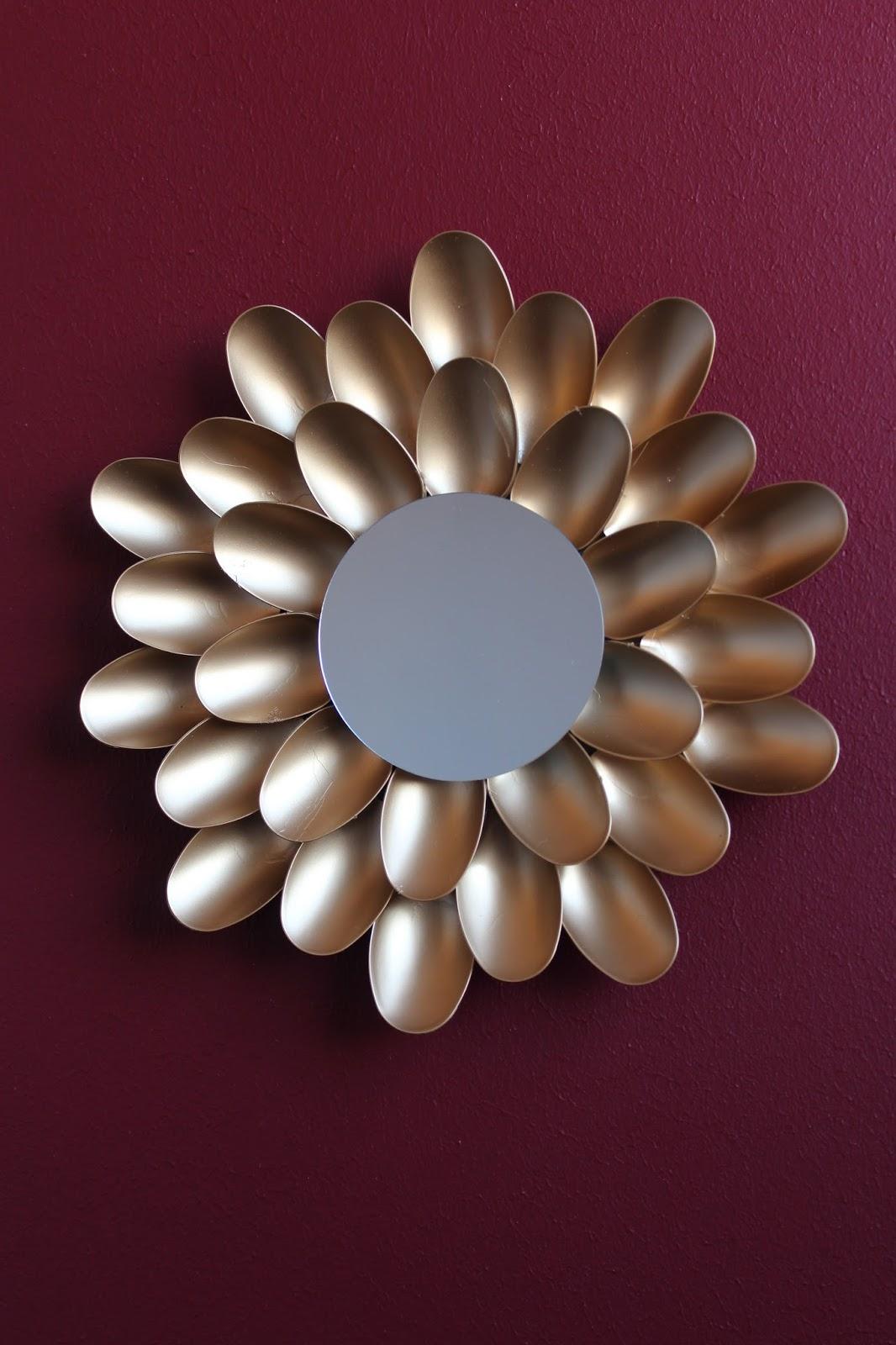 diy dekorativer spiegel plastikl ffel upcycling ars vera e diy blog f r kreative. Black Bedroom Furniture Sets. Home Design Ideas