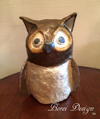 DIY Craft Tutorial How to make paper mache owl recycled crafts