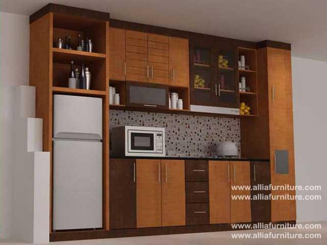 kitchen set minimalis single line mild