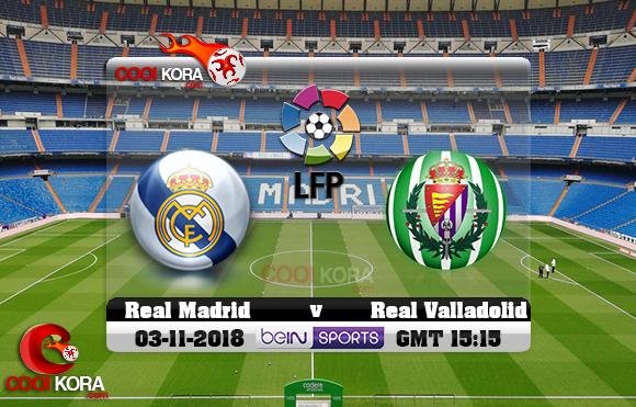 مشاهدة مباراة ريال مدريد وبلد الوليد اليوم 3-11-2018 في الدوري الأسباني