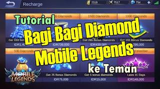 Cara Kirim Diamond ke Teman Mobile Legends