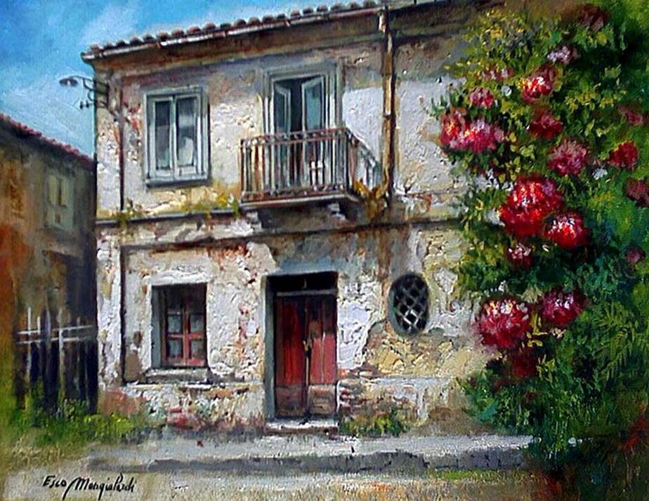 Im Genes Arte Pinturas Pinturas De Casas De Campo Antiguas
